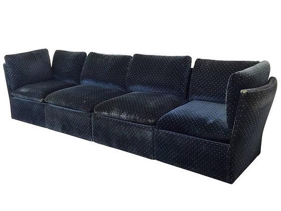 #2206 Milo Baughman Blue Sectional Sofa