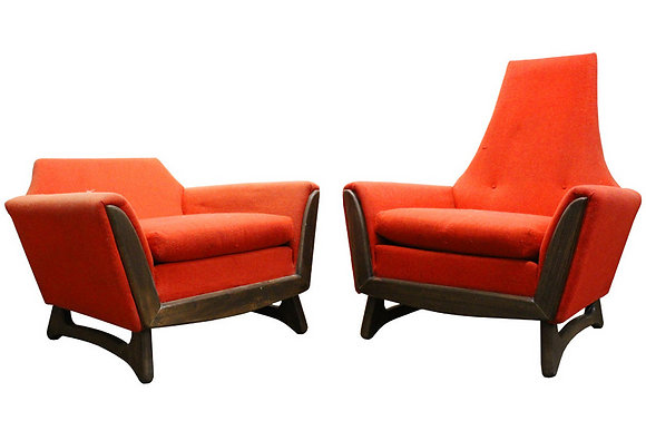 # His and Hers Chairs by Adrian Pearsall