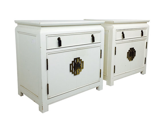 #2790 Pair Ming Nightstands by Century