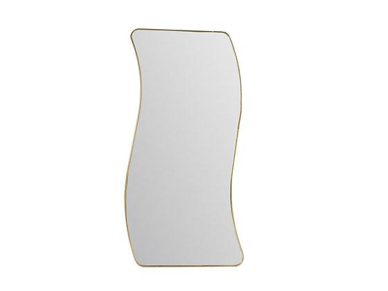 #3592 Wavy Mirror With Brass Frame