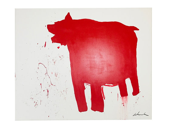 #3489 Red American Bear-Dog Painting