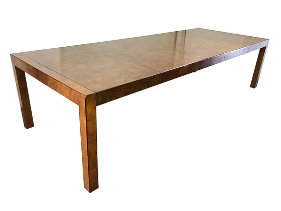 #3162 Burl Wood Parsons Style Dining Table by Widdicomb