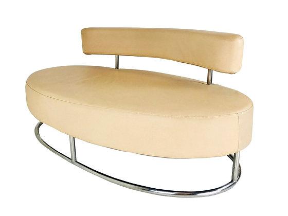 #3890 Modern Oval Italian Settee
