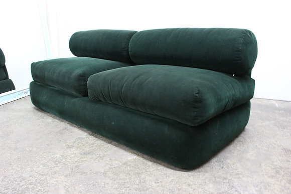 #8850 Green Corduroy Sofa