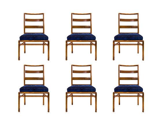 #3163 Set of 6 Robsjohn Gibbings Dining Chairs
