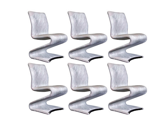 """#3323 Set of Six """"Z"""" Dining Chairs"""