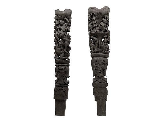 #3836 Pair of Burmese Columns