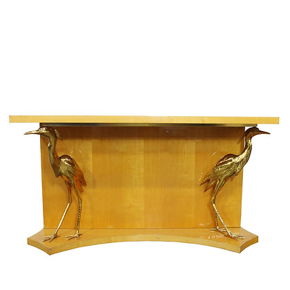 #8022 Italian Console with Brass Cranes