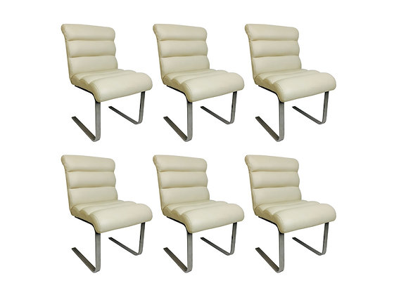 #2789 Set of 6 Chrome Pace Dining Chairs