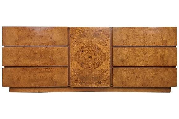 #1556 Milo Baughman Burl Wood Dresser for Lane