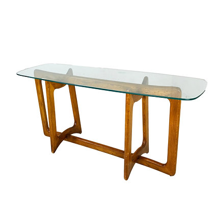 #4946 Adrian Pearsall Mid-Century Sculptural Walnut Console Table