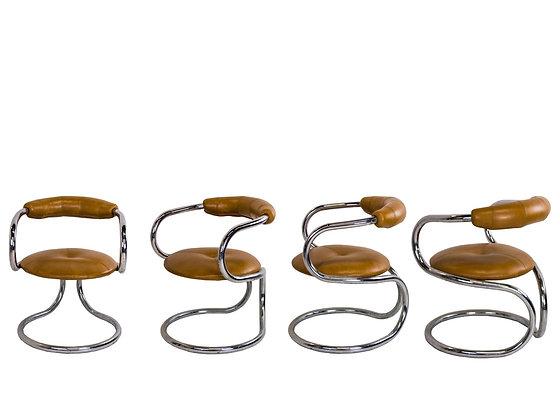 #3085 Set of4 Italian Chairs by Tecnosalotto