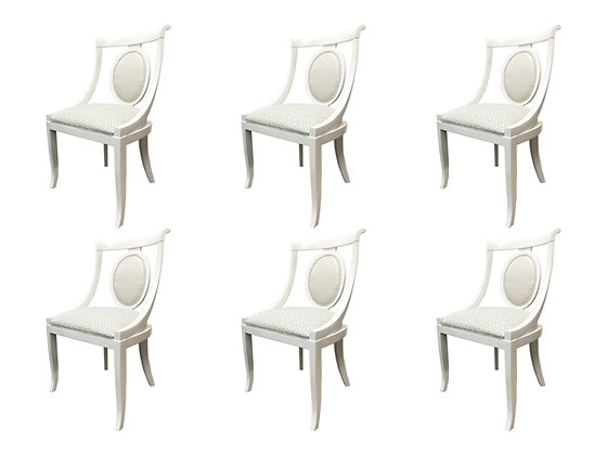 #1287 Set of 6 Newly Lacquered Spoon Back Chairs