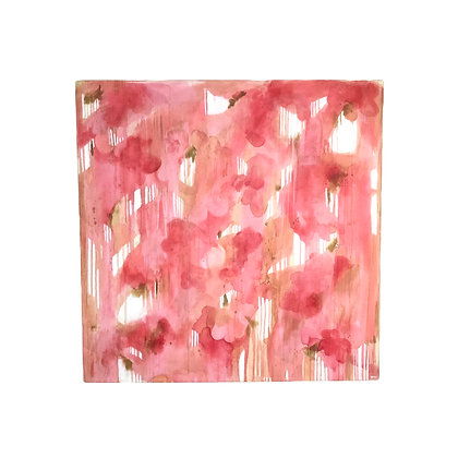 #4970 Large Abstract Pink Art