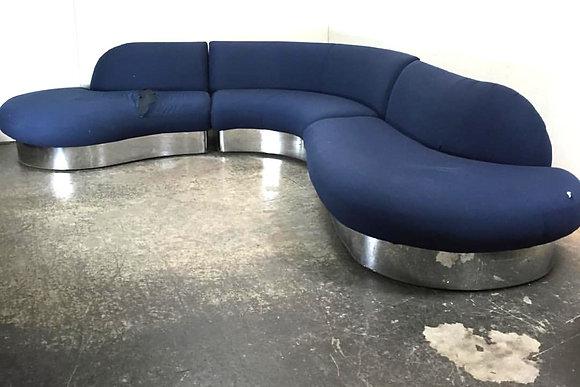 #1509 3Pc Milo Baughman Sectional Sofa