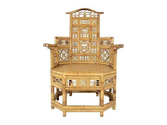#2825 Single Bamboo Chinoiserie Armchair