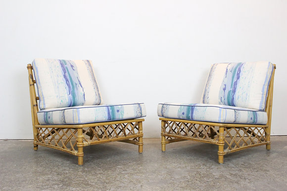 #1344 Pair Ficks Reed Slipper Chairs