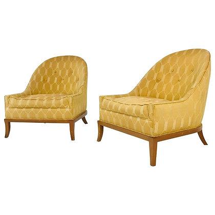 #4711 Pair Widdicomb Slipper Chairs