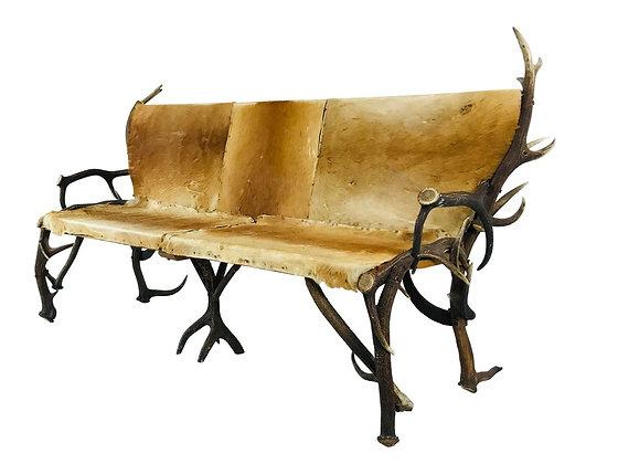 #3901 Antler & Hide Bench