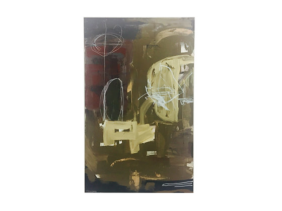 #2351 Earth Tone Abstract Painting by Stoneman