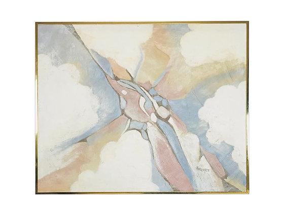 #3979 Abstract Oil on Canvas by Mario de Ferrante