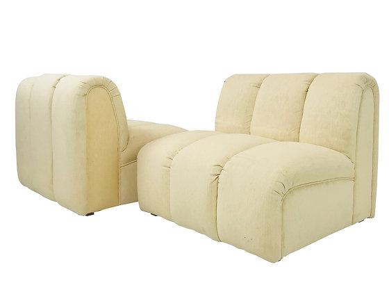 #3733 Pair of 1980s Slipper Chairs