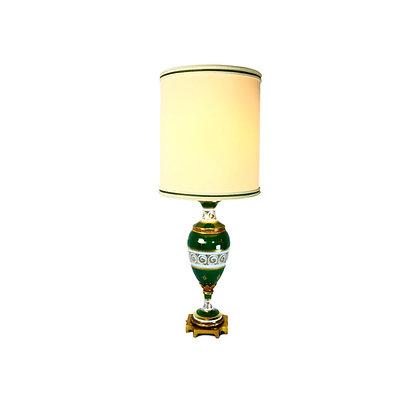 #5290 Green Glass Regency Lamp