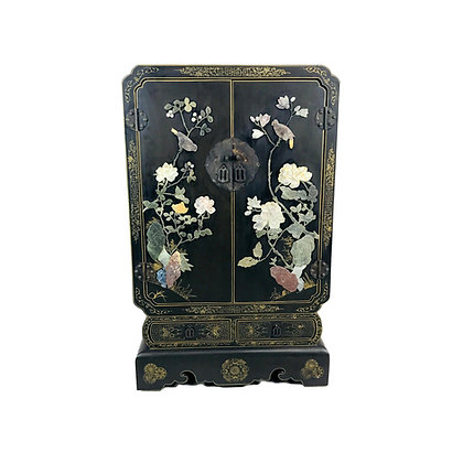 #5250 Chinese Lacquer and Hardstone Bar Cabinet