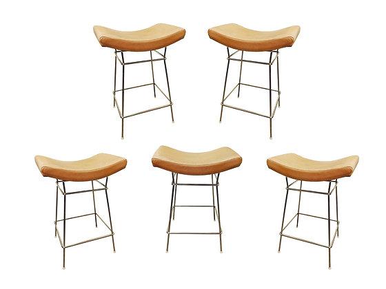 #1357 Set of Five  Fernando Jaeger Bar Stools