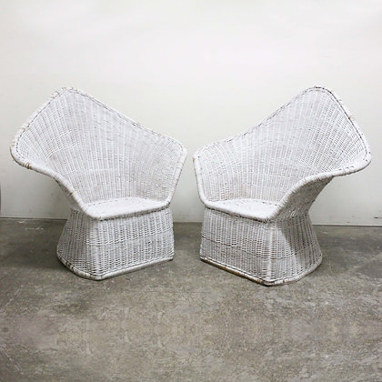 #8166 Pair McGuire Chairs