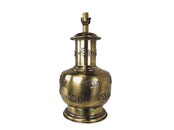 #3366 Single Brass Ming Table Lamp