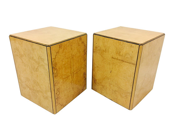 #2275 Pair Burl Pedestals by Henredon