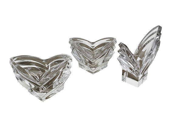 #3208 Set of Three Crystal Candle Holders