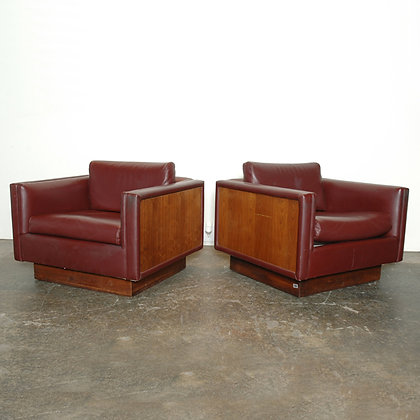 #4566 Pair Milo Baughman Cube Chairs