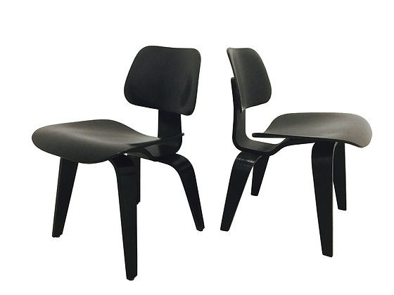 #3289 Pair Eames LCW Lounge Chairs for Knoll
