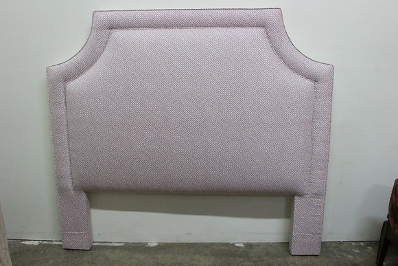 #1204 Pink & White Quadrille Fabric Headboard