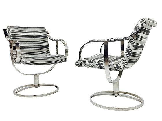 #969 Pair Steel Case Swivel Chairs