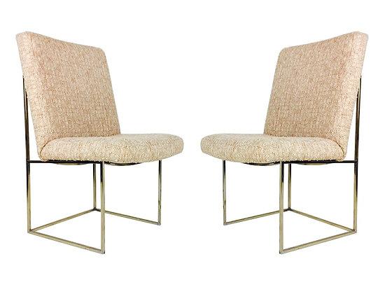 #2237 Pair Milo Baughman Dining Chairs