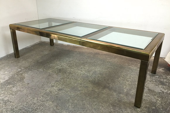 #1453 Brass Mastercraft Dining Table