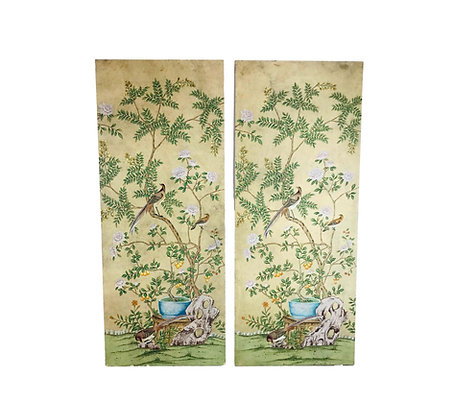 #5421 Monumental Chinoiserie Wall Panel by Dessin Fournir - 2 Available