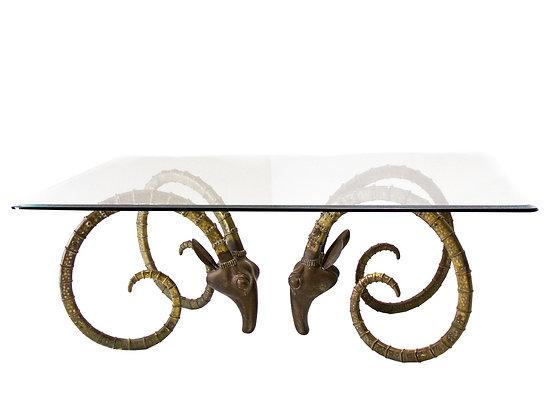 #3016 Brass Rams Head / Ibex Dining Table