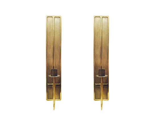 #2672 Pair Brass Candlestick Holders