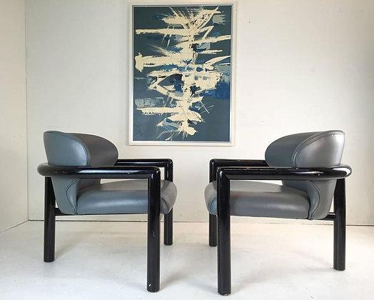 #1603 Pair 3 Legged Chairs