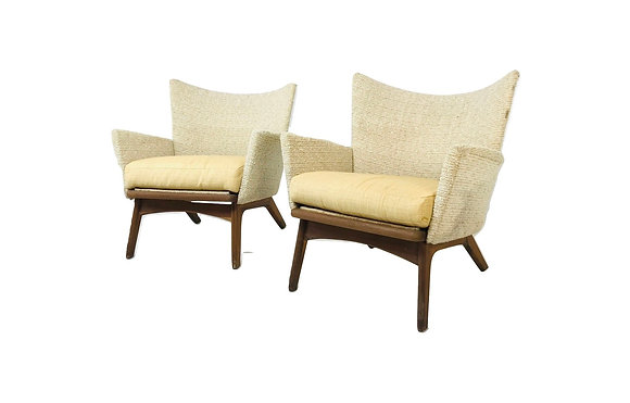 #4650 Rare Sculptural Pair of Adrian Pearsall Lounge chairs