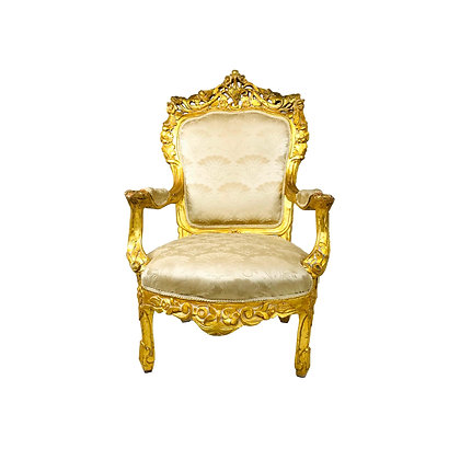 #5409 French Gold Leaf Carved Chair