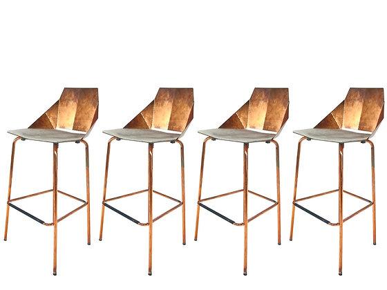#4330 Set of 4 Copper Pablo Bar Stools