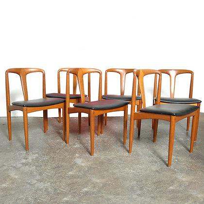 #6131 Set of Six Teak Anderse Johanne Dining Chair