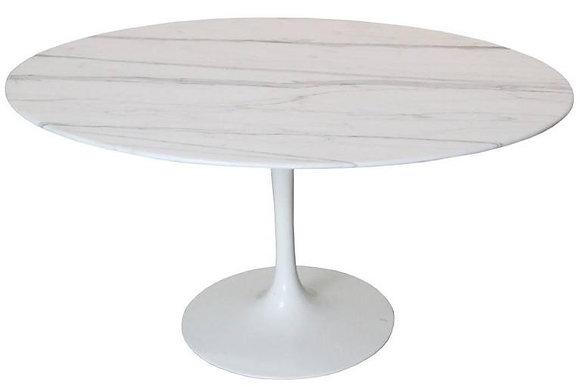 #8329 Carrera Marble Oval Tulip Coffee Table