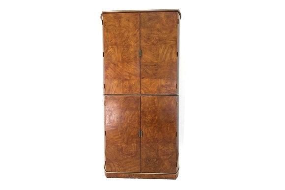 #1467 Burl & Brass Cabinet by Am o Martinsville