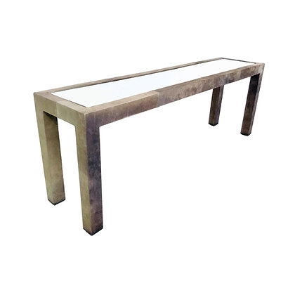 #5473 Leather Wrapped Console Table